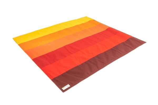 Multifunktions- Outdoordecke in Rot / Orange